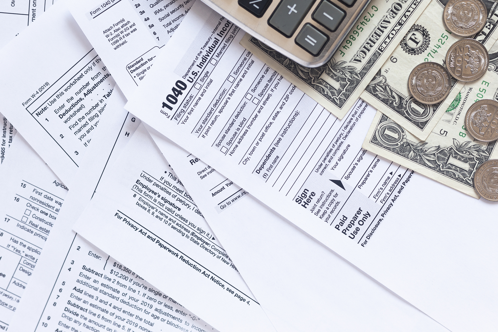 US Tax Forms. The Concept Of Tax Settlement